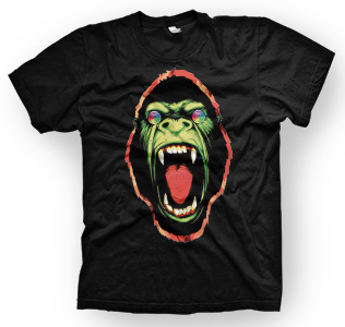 enough shirts,Hypnotic-Ape, T-Shirt, Gorilla, cooles Design