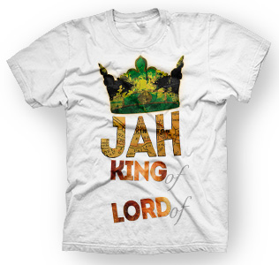 enough shirts, Jah-King, T-Shirt, cooles Design, Rastafari